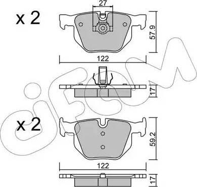 Cifam 822-644-0 - Piduriklotsi komplekt,ketaspidur multiparts.ee