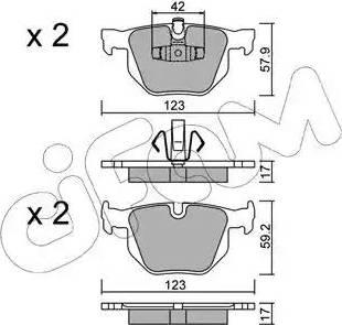 Cifam 822-643-0 - Piduriklotsi komplekt,ketaspidur multiparts.ee