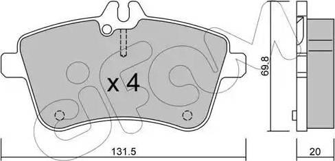 Cifam 822-647-0 - Piduriklotsi komplekt,ketaspidur multiparts.ee