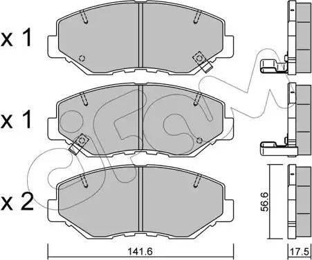 Cifam 822-606-0 - Piduriklotsi komplekt,ketaspidur multiparts.ee