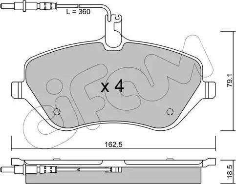 Cifam 822-601-0 - Piduriklotsi komplekt,ketaspidur multiparts.ee