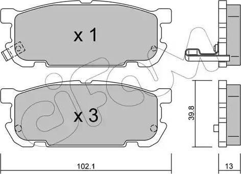 Cifam 822-608-0 - Piduriklotsi komplekt,ketaspidur multiparts.ee