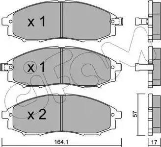 Cifam 822-611-0 - Piduriklotsi komplekt,ketaspidur multiparts.ee