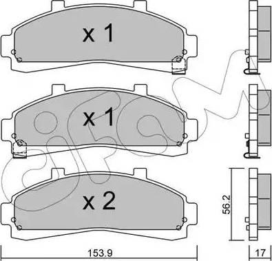 Cifam 822-683-0 - Piduriklotsi komplekt,ketaspidur multiparts.ee