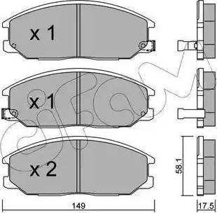 Cifam 822-632-0 - Piduriklotsi komplekt,ketaspidur multiparts.ee