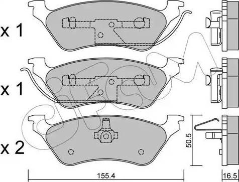 Cifam 822-625-0 - Piduriklotsi komplekt,ketaspidur multiparts.ee