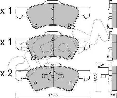 Cifam 822-623-0 - Piduriklotsi komplekt,ketaspidur multiparts.ee