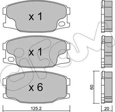 Cifam 822-622-0 - Piduriklotsi komplekt,ketaspidur multiparts.ee