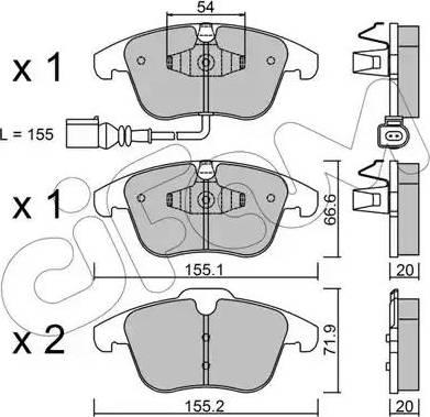 Cifam 822-675-1 - Piduriklotsi komplekt,ketaspidur multiparts.ee