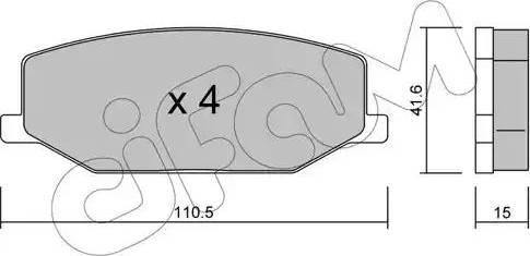 Cifam 822-097-0 - Piduriklotsi komplekt,ketaspidur multiparts.ee