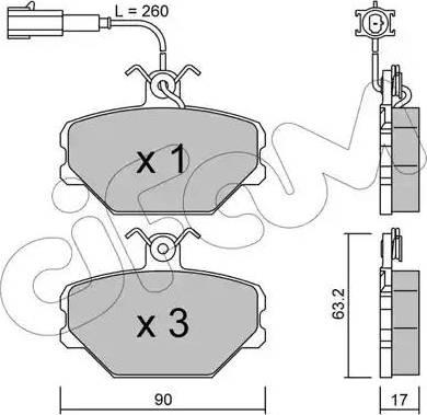 Cifam 822-059-0 - Piduriklotsi komplekt,ketaspidur multiparts.ee