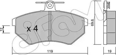 Cifam 822-050-2 - Piduriklotsi komplekt,ketaspidur multiparts.ee