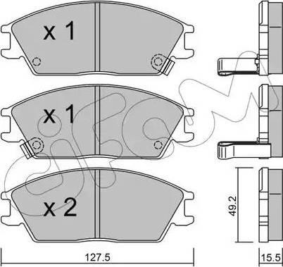 Cifam 822-081-1 - Piduriklotsi komplekt,ketaspidur multiparts.ee