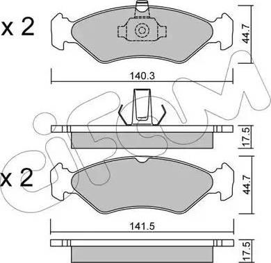 Cifam 822-088-0 - Piduriklotsi komplekt,ketaspidur multiparts.ee