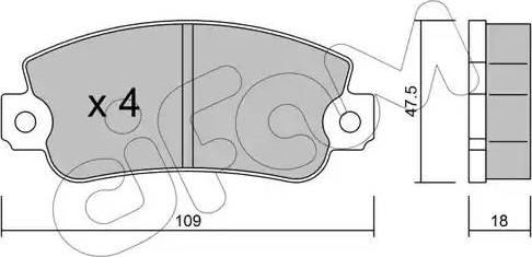 Cifam 822-033-0 - Piduriklotsi komplekt,ketaspidur multiparts.ee