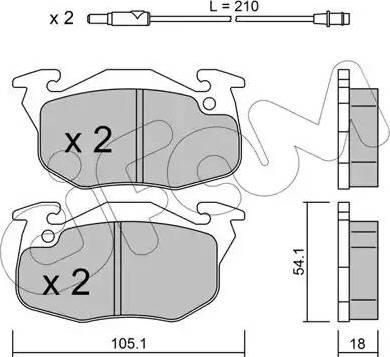 Cifam 822-037-0 - Piduriklotsi komplekt,ketaspidur multiparts.ee