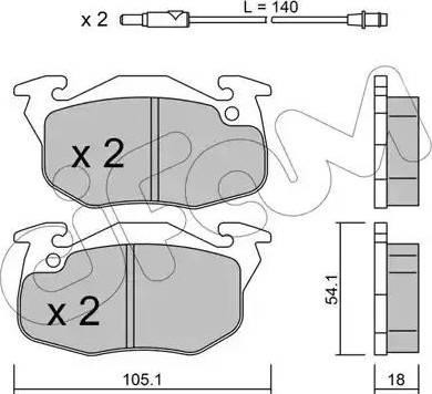 Cifam 822-037-2 - Piduriklotsi komplekt,ketaspidur multiparts.ee
