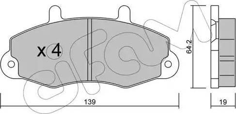 Cifam 822-194-0 - Piduriklotsi komplekt,ketaspidur multiparts.ee