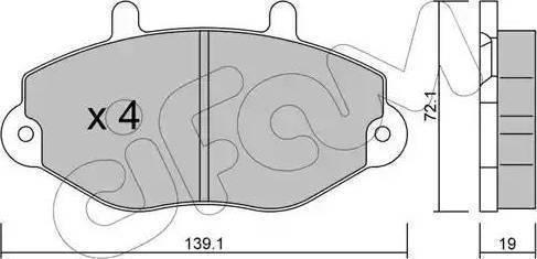 Cifam 822-195-0 - Piduriklotsi komplekt,ketaspidur multiparts.ee