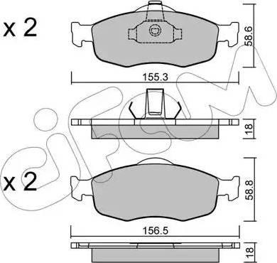 Cifam 822-146-0 - Piduriklotsi komplekt,ketaspidur multiparts.ee