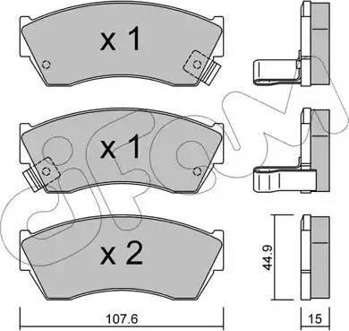 Cifam 822-168-0 - Piduriklotsi komplekt,ketaspidur multiparts.ee
