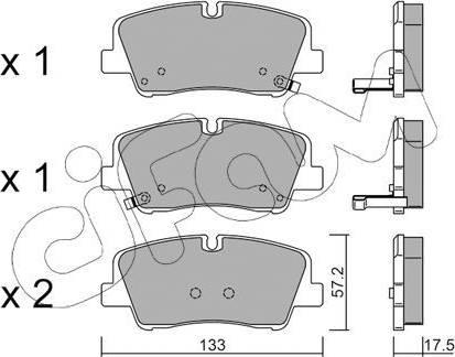 Cifam 822-1095-0 - Piduriklotsi komplekt,ketaspidur multiparts.ee
