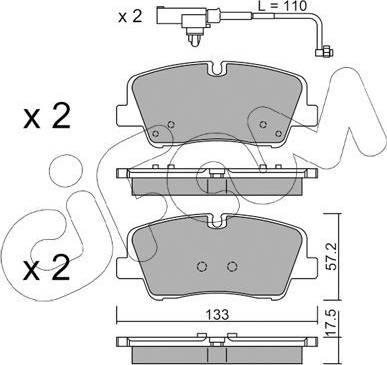 Cifam 822-1095-1 - Piduriklotsi komplekt,ketaspidur multiparts.ee