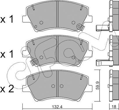 Cifam 822-1092-0 - Piduriklotsi komplekt,ketaspidur multiparts.ee
