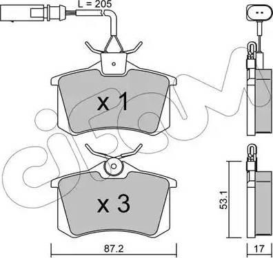 Cifam 822-100-3 - Piduriklotsi komplekt,ketaspidur multiparts.ee