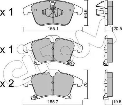Cifam 822-1039-0 - Piduriklotsi komplekt,ketaspidur multiparts.ee