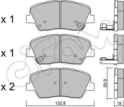 Cifam 822-1026-0 - Piduriklotsi komplekt,ketaspidur multiparts.ee
