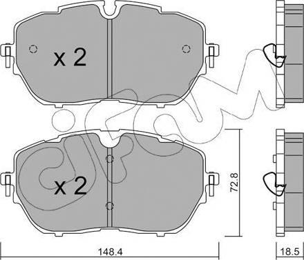 Cifam 822-1105-0 - Piduriklotsi komplekt,ketaspidur multiparts.ee
