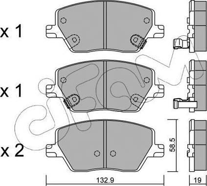 Cifam 822-1103-0 - Piduriklotsi komplekt,ketaspidur multiparts.ee