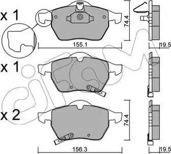 Cifam 822-118-1 - Piduriklotsi komplekt,ketaspidur multiparts.ee
