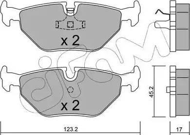Cifam 822-180-0 - Piduriklotsi komplekt,ketaspidur multiparts.ee