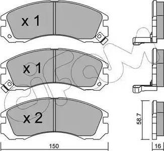 Cifam 822-134-0 - Piduriklotsi komplekt,ketaspidur multiparts.ee