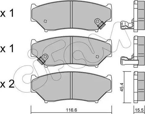 Cifam 822-136-0 - Piduriklotsi komplekt,ketaspidur multiparts.ee