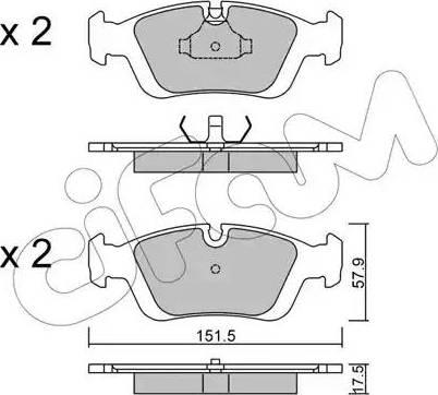 Cifam 822-124-0 - Piduriklotsi komplekt,ketaspidur multiparts.ee