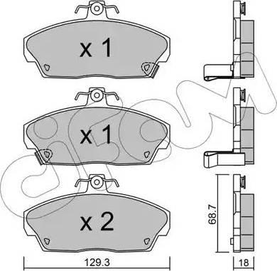 Cifam 822-174-0 - Piduriklotsi komplekt,ketaspidur multiparts.ee