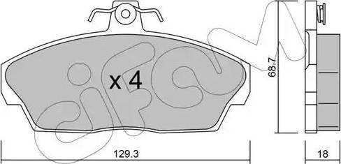 Cifam 822-174-1 - Piduriklotsi komplekt,ketaspidur multiparts.ee