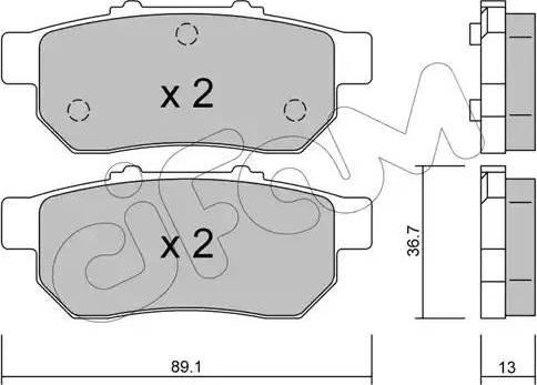 Cifam 822-176-0 - Piduriklotsi komplekt,ketaspidur multiparts.ee