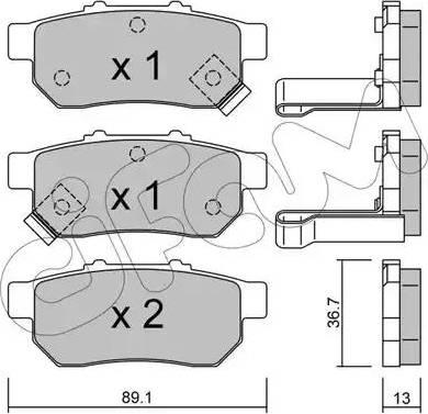 Cifam 822-176-1 - Piduriklotsi komplekt,ketaspidur multiparts.ee