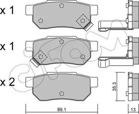 Cifam 822-170-1 - Piduriklotsi komplekt,ketaspidur multiparts.ee