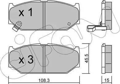 Cifam 822-897-0 - Piduriklotsi komplekt,ketaspidur multiparts.ee