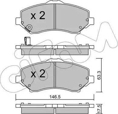 Cifam 822-862-0 - Piduriklotsi komplekt,ketaspidur multiparts.ee