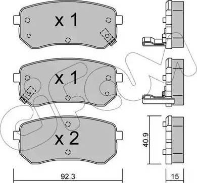 Cifam 822-815-0 - Piduriklotsi komplekt,ketaspidur multiparts.ee