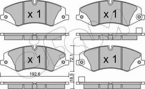Cifam 822-836-6 - Piduriklotsi komplekt,ketaspidur multiparts.ee