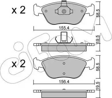 Cifam 822-832-0 - Piduriklotsi komplekt,ketaspidur multiparts.ee