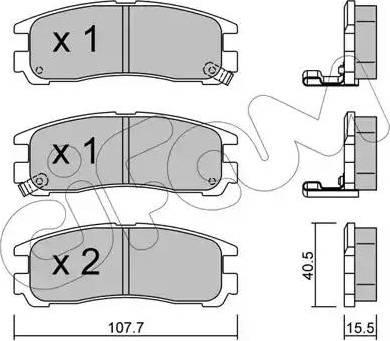 Cifam 822-398-0 - Piduriklotsi komplekt,ketaspidur multiparts.ee