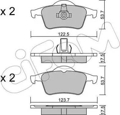 Cifam 822-348-0 - Piduriklotsi komplekt,ketaspidur multiparts.ee